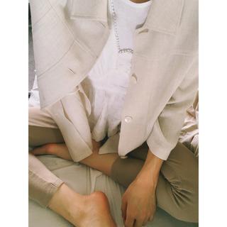 Lochie - リネン素材のトップス 羽織 シャツ used vintage