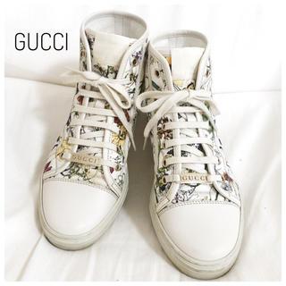 Gucci - GUCCI 花柄ハイカット スニーカー
