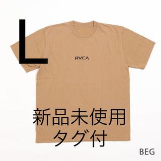 ルーカ(RVCA)のRVCA ルーカ SMALL LOGO Tシャツ ベージュAJ041-241 L(Tシャツ/カットソー(半袖/袖なし))