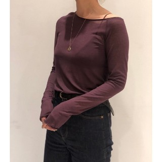 TODAYFUL - TODAYFUL Silkete Asymmetry Tops パープル