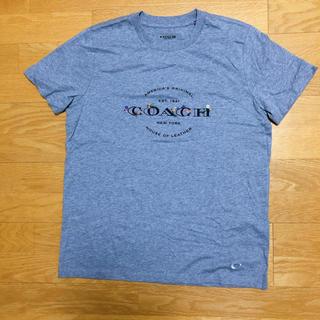 コーチ(COACH)の【新品】COACH ブランドロゴTシャツ グレー フラワー 花柄(Tシャツ(半袖/袖なし))