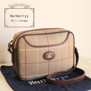 BURBERRY - 美品 Burberrys 90's ヴィンテージ ショルダー バッグ