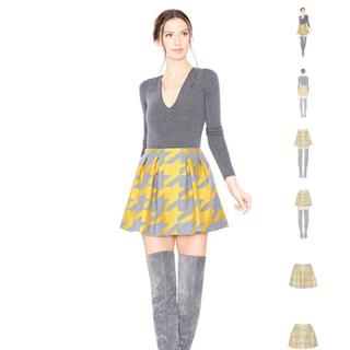 アリスアンドオリビア(Alice+Olivia)のセットアップ スカート(ミニスカート)