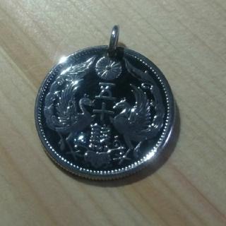 ゴローズ(goro's)の大日本 鳳凰50銭銀貨 コインネックレス キーホルダー トップのみ(ネックレス)