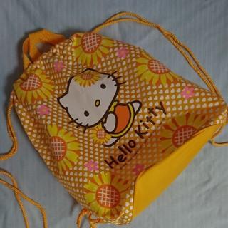サンリオ(サンリオ)のキティ バッグ プールバッグ ひまわり 夏 黄色 リュック プール(その他)