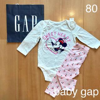 babyGAP - 新品★baby gapミニーちゃんロンパース &レギンスパンツ80