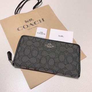 COACH - 新品 COACH 長財布 人気 シグネチャー グレー