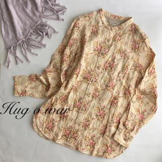 美品 ハグオーワー シャツ ブラウス 花柄