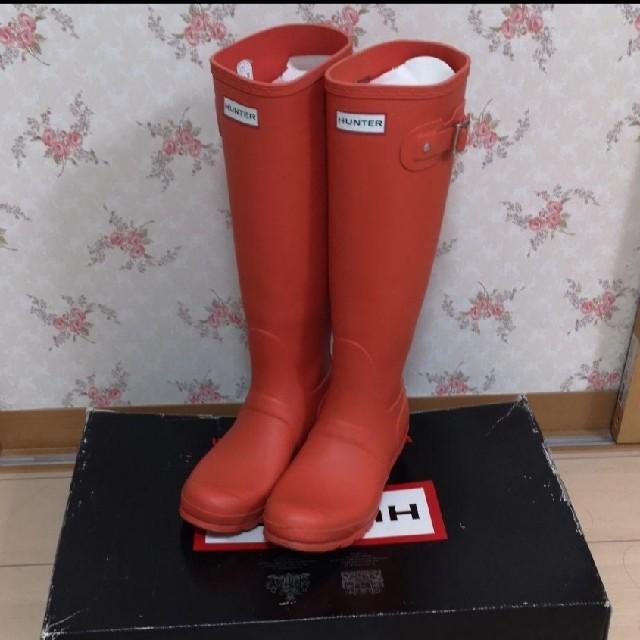 HUNTER(ハンター)のオレンジ ハンターレインブーツ  HUNTER 24.5  レディースの靴/シューズ(レインブーツ/長靴)の商品写真