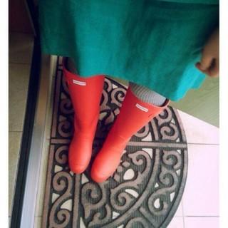 ハンター(HUNTER)のオレンジ ハンターレインブーツ  HUNTER 24.5 (レインブーツ/長靴)