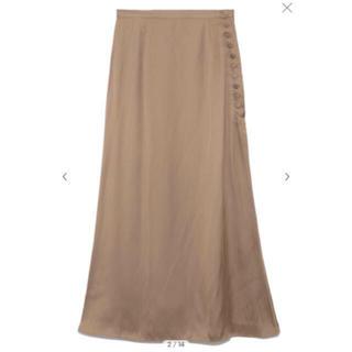 フレイアイディー(FRAY I.D)のFRAYI.D   サテンナロースカート(ロングスカート)