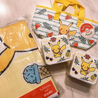 ポケモン - 完売品☆スリーコインズ  ポケモン お弁当箱 保冷バッグ レジャーシート