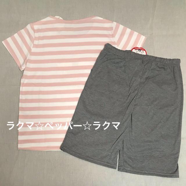 ハローキティ(ハローキティ)のキティ ミミィ tシャツ & ハーフパンツ L レディースのルームウェア/パジャマ(パジャマ)の商品写真