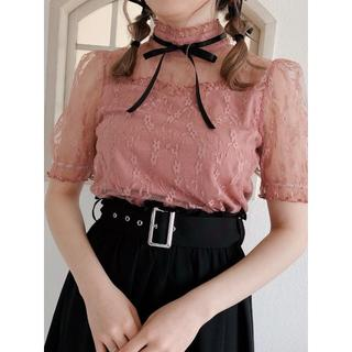 Ank Rouge - ☆19AW 今期新作 完売品 Ank Rouge レースTOPS ピンク