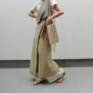 アメリヴィンテージ(Ameri VINTAGE)のcft ラップスカート ベージュ(ロングスカート)