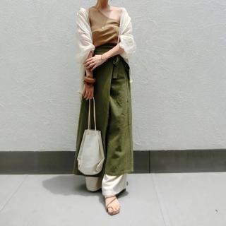 アメリヴィンテージ(Ameri VINTAGE)のcft ラップスカート カーキ(ロングスカート)
