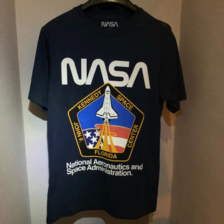 ZARA - 新品未使用タグ付き 日本未上陸 PULL & BEAR Tシャツ NASA 紺