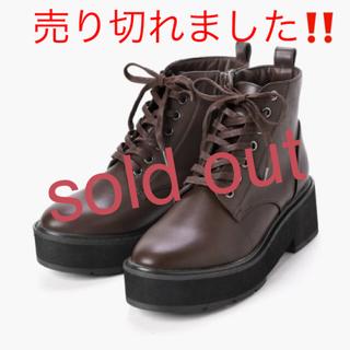 マジェスティックレゴン(MAJESTIC LEGON)の新品♡定価6820円 マジェスティックレゴン ブーツ ブラウン M、Lサイズ(ブーツ)