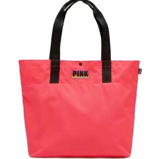 ヴィクトリアズシークレット(Victoria's Secret)のヴィクシー VS PINK スナップトートバッグ コーラルオレンジ(トートバッグ)