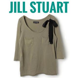 JILL by JILLSTUART - JILL STUART  リボン付き 五分袖 トップス カットソー ロンT