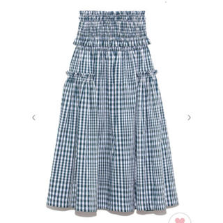 snidel - 新作!snidel チェックシャーリングスカート