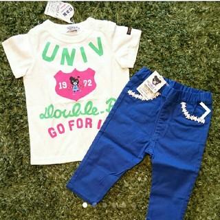 DOUBLE.B - 新品 DOUBLE.b Tシャツ パンツ 90