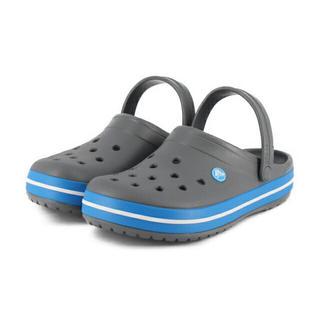 クロックス(crocs)のラスト1 クロックス 28cm チャコールグレー ブルー ビーサン クロスライト(サンダル)