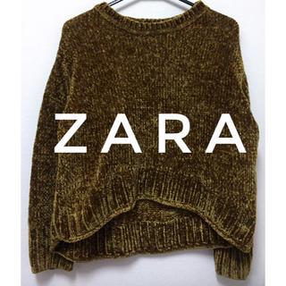 ザラ(ZARA)のZARA【美品】コーデュロイ 変形 長袖 ニット カットソー トップス(ニット/セーター)
