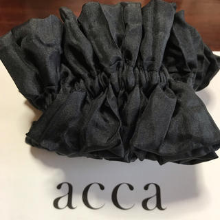アッカ(acca)の新品♡acca♡マシュマロシュシュ ブラック(ヘアゴム/シュシュ)