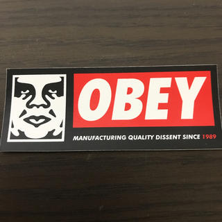 OBEY - 【縦4cm横10.3cm】obey  ステッカー