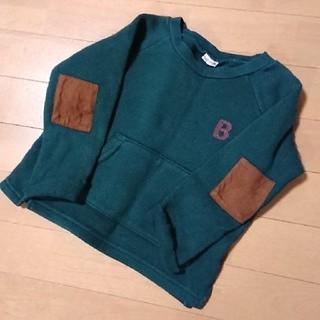 プティマイン(petit main)の■ petit mainグリーン色トレーナー 男の子 100 ■(Tシャツ/カットソー)