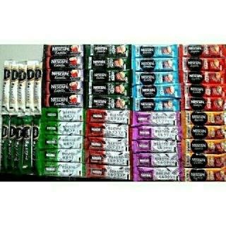 Nestle - ネスカフェスティックコーヒー10種50本