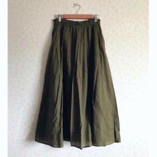 LOWRYS FARM - ローリーズファーム コットンボイルスカート カーキ ロングスカート