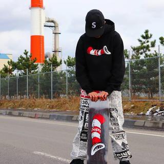 Supreme - supreme newsprint skate pants 18aw