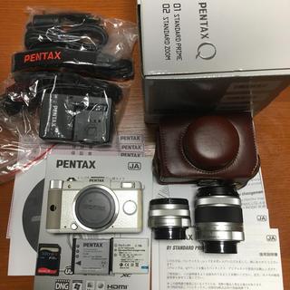 PENTAX - PENTAX Q ダブルレンズキット ホワイト オマケ付 01 02 良品