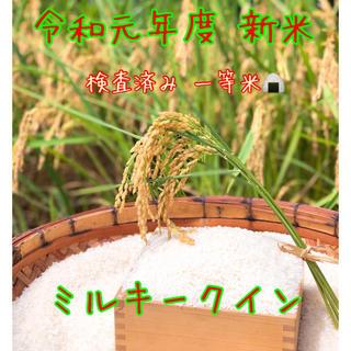 令和元年度 新米 ミルキークイン 20キロ(米/穀物)