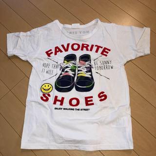 BREEZE - 新品BREEZE.試着のみ.140Tシャツ男女ok.白Tシャツ