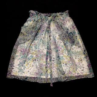 JUSGLITTY - JUSGLITTY 花柄 シフォン スカート 1