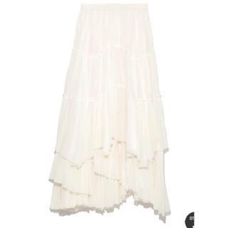 アメリヴィンテージ(Ameri VINTAGE)のカーサフライン コットンティアードスカート(ロングスカート)