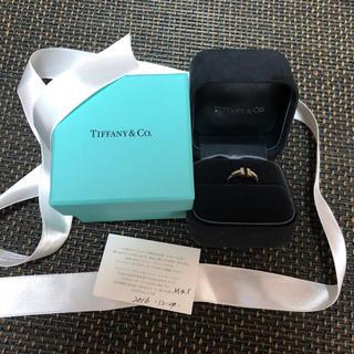 ティファニー(Tiffany & Co.)のTIFEANY&co. Tラインダイヤリング YG(リング(指輪))