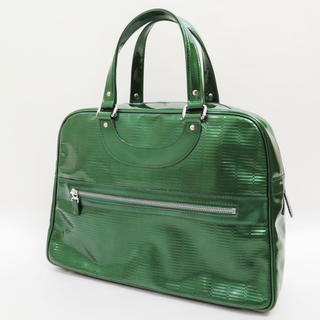 H.P.FRANCE - ジャックルコー リスボン エナメル パテント 型押し バッグ