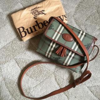 BURBERRY - 希少 レア オールド ヴィンテージ バーバリー フリンジ ショルダー