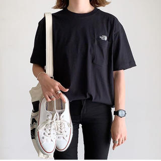 THE NORTH FACE - ノースフェイス  シンプルロゴ刺繍tシャツ