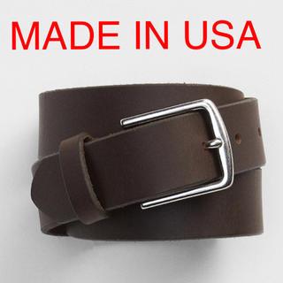 ギャップ(GAP)の新品 MADE IN USA レザーベルト 本革 gap ブラック ブラウン(ベルト)