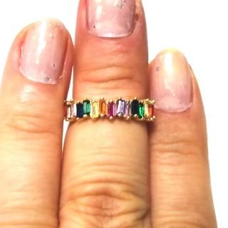 10号 綺麗な ミックスカラー リング 指輪(リング(指輪))