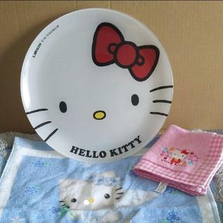 ハローキティ - キティ絵皿&ハンカチ