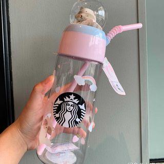 Starbucks Coffee - スタバ 6月新品 洗熊 苺 水晶玉 ストロー コールドカップ 中国限定 ピンク