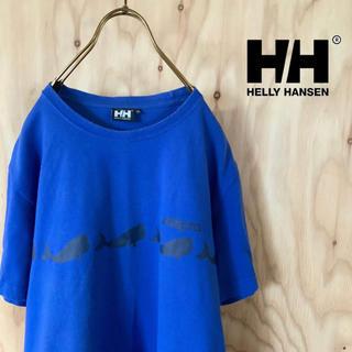 HELLY HANSEN - HELLY HANSEN H/H   両面プリント tシャツ ブルー XL