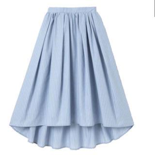 グレイル(GRL)のストライプバックテールボリュームフレアスカート  (ロングスカート)
