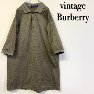 BURBERRY - 美品 vintage Burberry 総柄ポロシャツ イタリー製